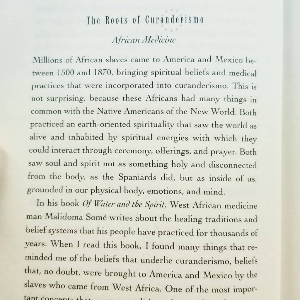 A photo of the section introducing the cultural impact of enslaved Africans in the roots of curanderismo