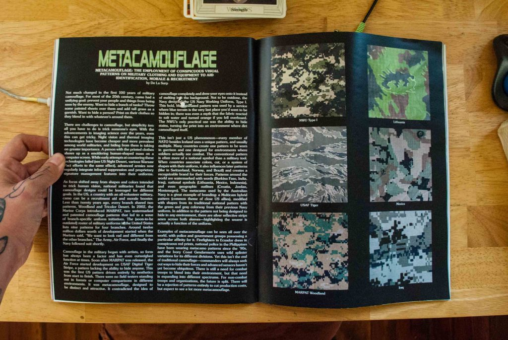 a feature spread on the rise of metacamouflage in the military