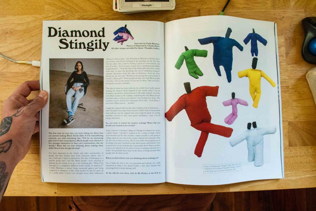 a feature spread interview with artist Diamond Stingily