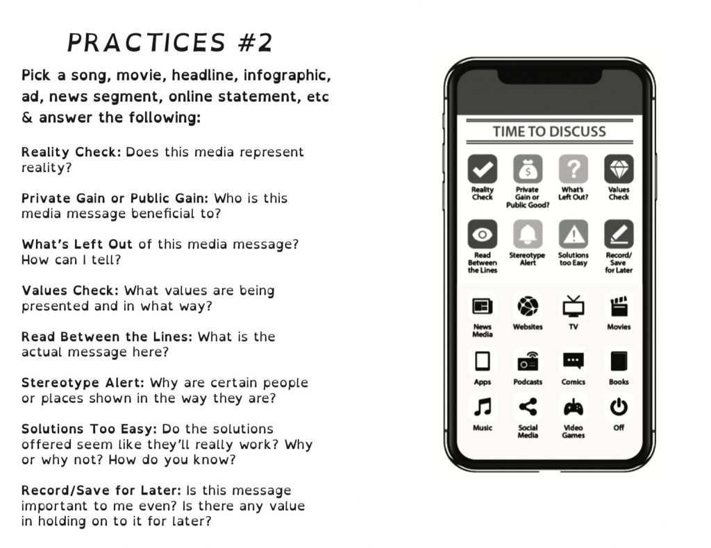A screencapture of the interior practices from the booklet PDF