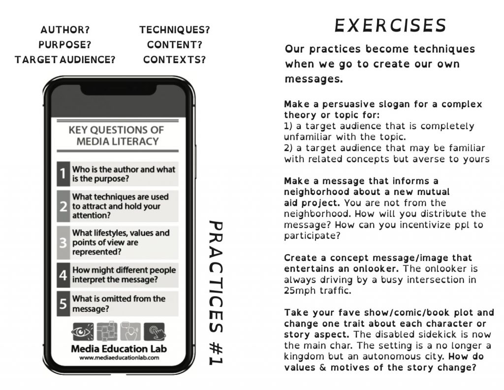 A screencapture of the interior practices & exercises from the booklet PDF